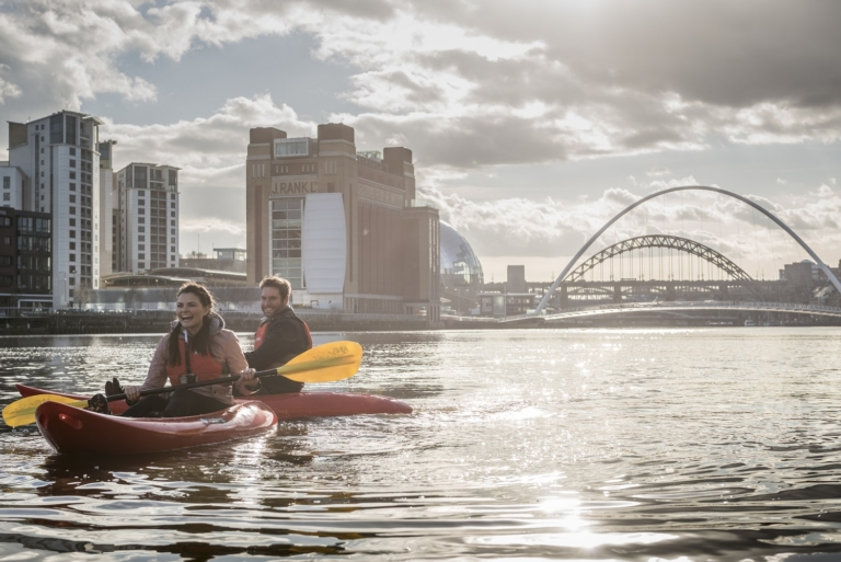 kayaking on the River Tyne Newcastle