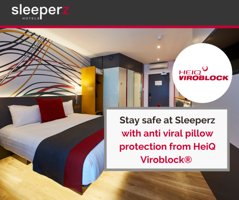 Sleeperz Hotels is now using anti viral pillows at all UK hotels
